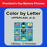 Color by Letter: Uppercase (A-Z) - President's Day Mystery