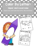 Color by Letter Uppercase and Lowercase Descrimination