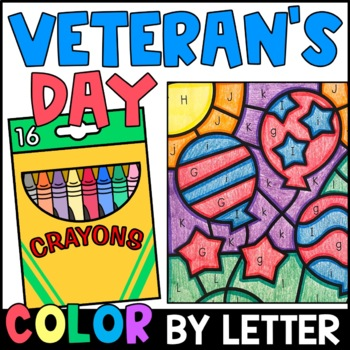 Color by Letter: Veteran's Day