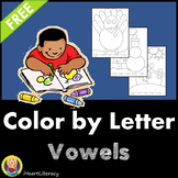 Color by Letter - Vowels - Free
