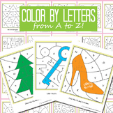 Color by Letter Worksheet - 26 Alphabet Worksheets