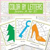Color by Letter Worksheet - 26 Alphabet Worksheets