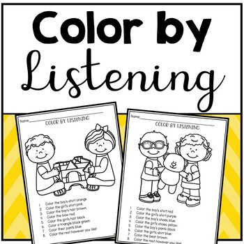 Color by Listening (A Following Directions Activity)