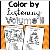 Color by Listening (A Following Directions Activity) Volume II