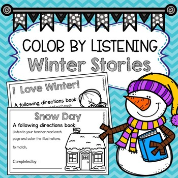 Color by Listening Winter Stories (A Following Directions Activity)