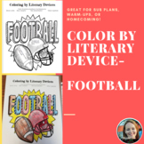 Color by Literary Device-Football