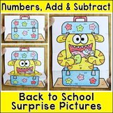 Color by Addition & Subtraction Surprise Pictures - Math Coloring Pages
