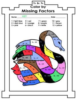 Color by Multiplication - Missing Factors Winter Theme NO PREP 15 student pages