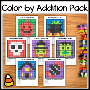 Color by Multiplication – Halloween Bundle - Hidden Pictures #81 through 87