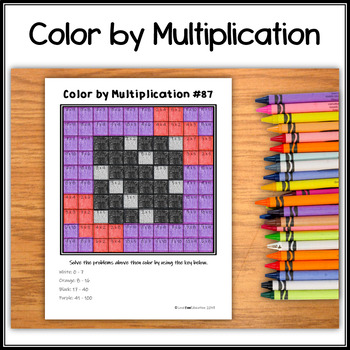 Color by Multiplication – Halloween Hidden Picture #87 Candy