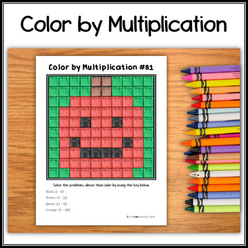 Color by Multiplication – Halloween Hidden Picture #81 Jack-o-lantern
