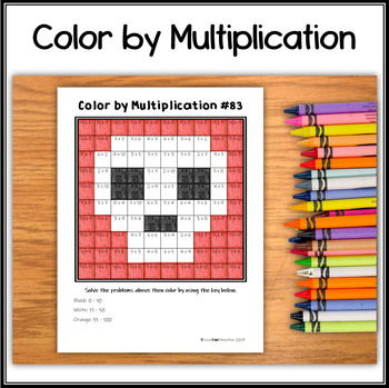 Color by Multiplication – Halloween Hidden Picture #83 Skull