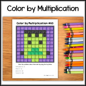 Color by Multiplication – Halloween Hidden Picture #85 Frankenstein's Monster
