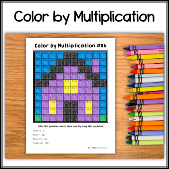 Color by Multiplication – Halloween Hidden Picture #86 Haunted House