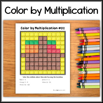 Color by Multiplication – Hidden Picture #02 Harvest
