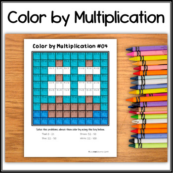 Color by Multiplication – Hidden Picture #04 Mayflower