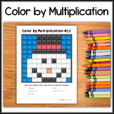 Color by Multiplication – Hidden Picture #12 Snowman