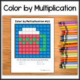 Color by Multiplication – Hidden Picture #15 Winter Mug