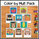 Color by Multiplication – Hidden Pictures #01-10 Thanksgiv
