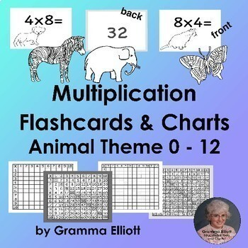 Color by Multiplication and Missing Factors with Flash Cards Bundle
