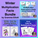 Color by Multiplication Basic Facts and Missing Factors wi