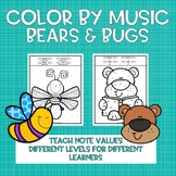Color by Music: Bears and Bugs (Note and Rest Values)