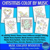 Music Coloring Sheets Christmas