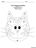 Color by Music Dynamics Cat Coloring Page