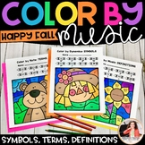 Color by Music: Fall & Autumn {Notes, Symbols, Rhythms, & More!}