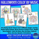 Color by Music Halloween
