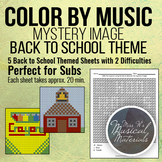 Color by Music Mystery Image: Back to School Theme