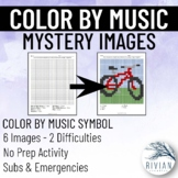 Color by Music: Mystery Image (6 Images, 2 Difficulties)