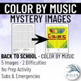 Color by Music: Mystery Image Back to School (5 Images, 2