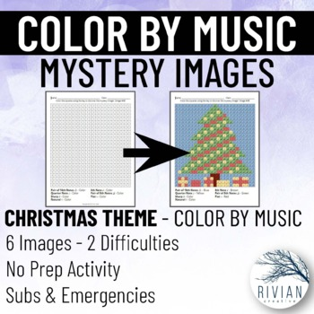 Color by Music: Mystery Image Christmas & New Year's (6 Images, 2 Difficulties)