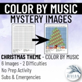 Color by Music: Mystery Image Christmas & New Year's (6 Im