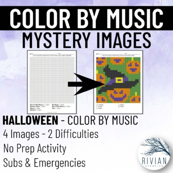 Color by Music: Mystery Image Halloween (4 Images, 2 Difficulties)