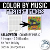 Color by Music: Mystery Image Halloween (4 Images, 2 Diffi