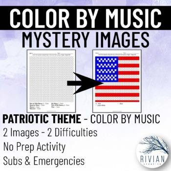 Color by Music: Mystery Image Patriotic (2 Images, 2 Difficulties)