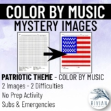 Color by Music: Mystery Image Patriotic (2 Images, 2 Diffi