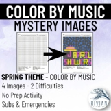 Color by Music: Mystery Image Spring (4 Images, 2 Difficulties)
