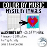 Color by Music: Mystery Image Valentine's Day (4 Images, 2