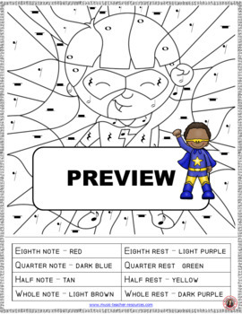 piano notes coloring pages - photo#24