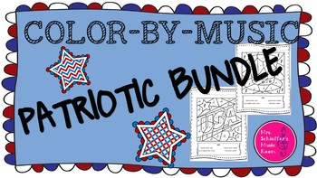 Color by Music Patriotic ~Growing Bundle~