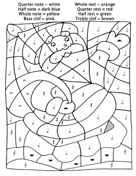 music coloring pages by numbers - photo#17