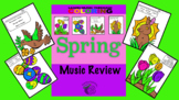 Color by Music- Spring Music Review (Dynamic, Notes, Rests