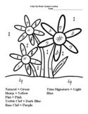 Color by Music Symbol - Garden