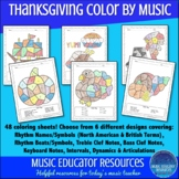 Music Coloring Sheets Thanksgiving