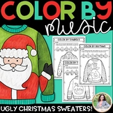 Color by Music: Ugly Christmas Sweaters! {Notes, Symbols,