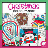 Christmas Color-by-Music Note Worksheets