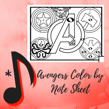 """Color by Note - """"Avengers"""" Assemble Edition"""